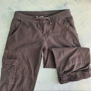 Prana Brown Cargo Rollup Hiking Capris/Pants